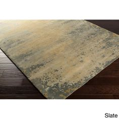 Hand-Knotted Shiloh Abstract Indoor Rug (9' x 13') (Slate-(9' x 13')), Grey, Size 9' x 13'
