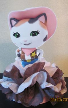Sheriff Callie Birthday Party Centerpiece by KhloesKustomKreation, $16.00