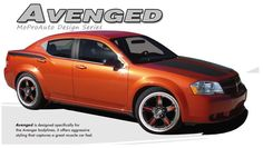 "AVENGED : Vinyl Graphics Kit for 2008 2009 2010 2011 2012 2013 2014 Dodge Avenger Vinyl Graphics Decals Striping Kit ""Factory OEM Style"" with Professional Automotive Vinyl at a Discount Price!"