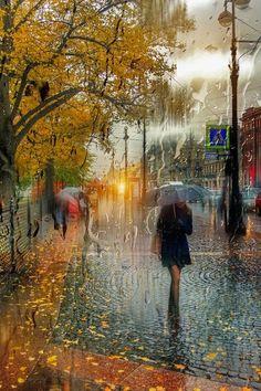 (109) 트위터 Walking In The Rain, Singing In The Rain, Rainy Night, Rainy Days, Rainy Mood, Rainy Morning, Rain Photography, Street Photography, White Photography