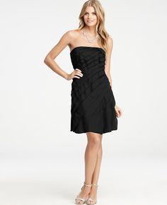 Petite Layered Strapless Dress