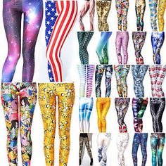 Women High Waist Sport Pants Yoga Leggings Fitness Gym Active Running Trousers V Funky Tights, Funky Leggings, Leggings Are Not Pants, Printed Leggings, Women's Leggings, Colorful Leggings, Jeggings, Gym Pants, Running Pants