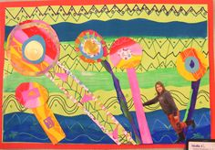 Suffield Elementary Art Blog!: 5th Grade Hundertwasser Collage Portrait Paintings
