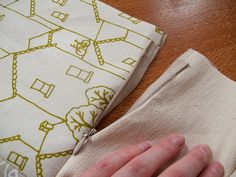 Tutorial for inserting an invisible zipper into a pillow cover!