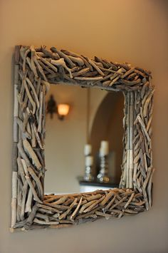 Driftwood Mirror accents the upstairs bar at Verandas Beach House
