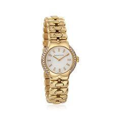 C. 1980 Vintage Tiffany Jewelry .55 ct. t.w. Diamond Women\'s Watch in 18kt Gold. Size 7
