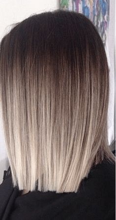 69 Ideas hair cuts shoulder length balayage hairstyles for 2019 Ombre Hair Color, Hair Color Balayage, Blonde Balayage, Icy Blonde, Bright Blonde, Platinum Blonde, Ombré Blond, Blonde Ombre Short Hair, Going Blonde From Brunette