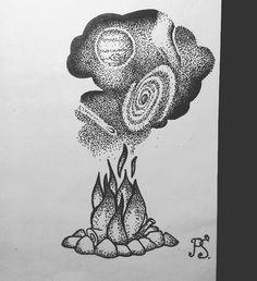#татуха #татуэскиз #татуировка #эскиз #дотворк #дотворктату #графика #чб #костер #космос #галактика #tattoo #tattoosketch #sketch #dotwork #dotworktattoo #graphic #bw #bonfire #space #galaxy