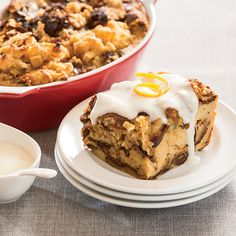 For a holiday twist, try this panettone bread pudding recipe with a sweet, creamy sauce.