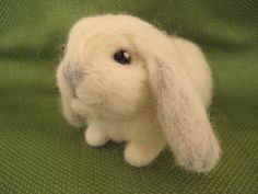 Needle Felted Rabbit  Miniature Lop by minifeet on Etsy, $22.00