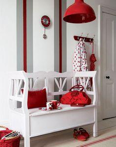 Decoracion en color rojo