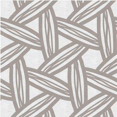 Fabric by the Yard Fabric in Wicker Lattice, Wheat Bread Reverse, designed by…
