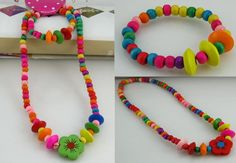 Set 24 A set of necklace and bracelet Made from wood  From China  RM10 per set  If buy 5 sets, you pay only RM35  PRE ORDER now..