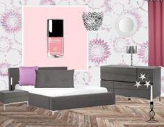 Altijd al een opvallend motief op de muur gewild? Waarom ook niet!? Hou de rest van de meubels rustig en laat een aantal kleuren terug komen als kleine details.