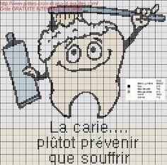 Salle de bains-bathroom - dent - point de croix-cross stitch - Blog : http://broderiemimie44.canalblog.com/