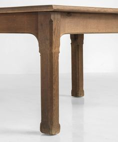 Solid Oak Dining Table, circa 1870 | From a unique collection of antique and modern dining room tables at https://www.1stdibs.com/furniture/tables/dining-room-tables/