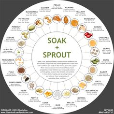 Soak + sprout beans/nuts