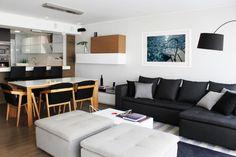 Dpto. Dalias // Sala-Comedor //  Sybil Roose (Visybilidad) Sofa, Couch, Design Projects, Interior Design, Furniture, Home Decor, Master Bedroom, House Decorations, Yurts