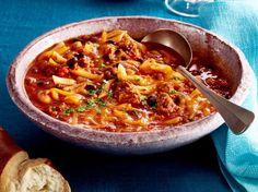 Unser beliebtes Rezept für Chili-Con-Carne–Suppe und mehr als 55.000 weitere kostenlose Rezepte auf LECKER.de.