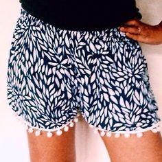 POM POM Beach Summer Cute Shorts POM POM Shorts Free Size Comfy Pajama Shorts   eBay
