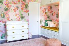 """wallpaper: Lulu and Georgia, $172/roll, roll is 108""""h x 72"""" w (in 4 strips) from Emily Henderson Design"""