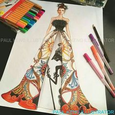 Fashion Design Drawing Fashion Drawing and illustration by Dress Design Sketches, Fashion Design Sketchbook, Fashion Design Portfolio, Fashion Design Drawings, Fashion Sketches, Drawing Fashion, Fashion Illustration Hair, Illustration Mode, Illustrations