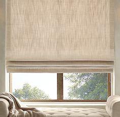 Perennials® Textured Linen Flat Roman Shade