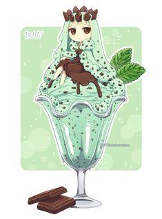 Mint Chocolate Chip Ice Cream by DAV-19.deviantart.com on @deviantART