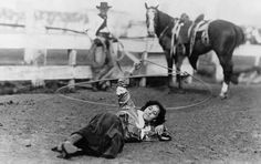 A shot captured in 1912 shows Florence LaDue and her fancy lasso skills. | 15 Retro Pics Of Truly Badass Cowgirls