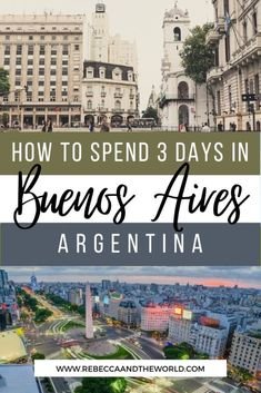 Only got 3 days in Buenos Aires? This local's Buenos Aires itinerary will help you plan your trip so you see, do and eat the best things Buenos Aires has to offer.   Buenos Aires Itinerary   3 Days in Buenos Aires   Visit Buenos Aires   Visit Argentina   Things To Do in Buenos Aires   What To Do in Buenos Aires   Buenos Aires Attractions   Buenos Aires Must Do   Buenos Aires Travel   Visit Argentina   Argentina Travel   Buenos Aires Travel Guide   #BuenosAires #Argentina #SouthAmericaTravel