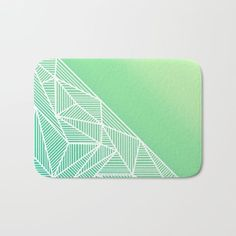 'B Rays Geo Gradient Green' Bath Mat By Fimbis | Society6  #mat #home #geometric #green #lime #white #stylish #fashion #interiors #interiordesign #home #homedecor #style #stripes #bathroom