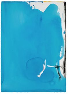 "Helen Frankenthaler (married to Robert Motherwell). To me, this feels like ""the one who got away"" Robert Motherwell, Helen Frankenthaler, Jackson Pollock, Contemporary Abstract Art, Modern Art, Joan Mitchell, Colour Field, Blue Art, Color Blue"