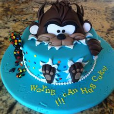 My sister made this! She is the shizzzz Unique Cakes, Creative Cakes, Just Cakes, Cakes And More, Fondant Cakes, Cupcake Cakes, Movie Cakes, Funny Cake, Character Cakes