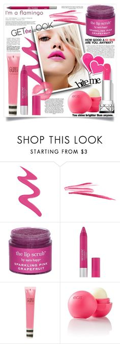 """""""Bright Pink Lipstick"""" by danielle-broekhuizen ❤ liked on Polyvore featuring beauty, Too Faced Cosmetics, Chanel, NARS Cosmetics, Sara Happ, Topshop, Eos, Urban Decay and Industrie"""