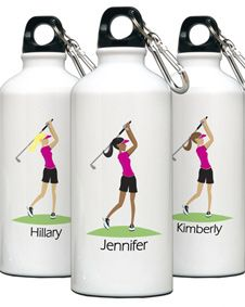Personalized Go Girl Golf Water Bottle. http://www.bluerainbowdesign.com/WeddingFavorProduct.aspx?ProductID=PR0114111749990aUBFIr482KpBRD97575=WEDDI=GROUP=WBOTT=pinterest