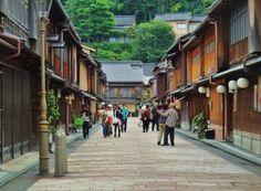 Kanazawa -  Old Town. Higashichaya Street