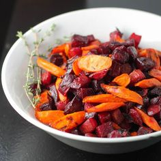Roasted Carrots and Beets with Thyme