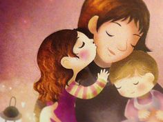Mother & daughters designed by Sara Michieli. the global community for designers and creative professionals. Mother Daughter Art, Mother And Child, Cartoon Pics, Cute Cartoon, Family Illustration, Illustration Art, 2 Kind, Stories For Kids, Mothers Love