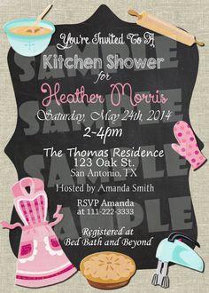 Printable Kitchen Shower Invitation - Bridal Shower Invitation (Digital File Only)