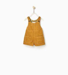 SHORT CORDUROY DUNGAREES-DRESSES-Baby girl-Baby   3 months - 3 years-KIDS   ZARA United States