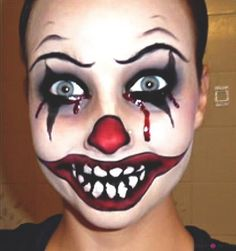 Killer Clown Makeup Tutorial | Want to be a creepy clown for Halloween, you can be with this makeup tutorial. | Makeup Tips and Tutorials from youresopretty.com #MakeupTips #youresopretty