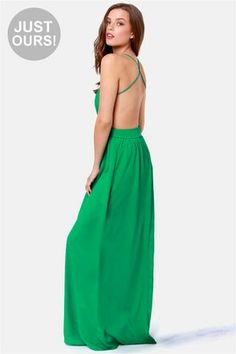 Green backless
