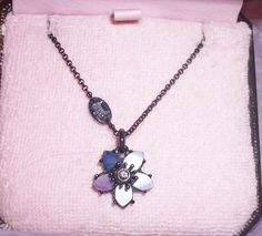 JUICY COUTURE, COUTURE FLOWERS, PEALESCENT FLOWER NECKLACE Juicy Couture, Flower Necklace, Beautiful Necklaces, Simply Beautiful, Cool Stuff, Stuff To Buy, Join, Free, Pendant Necklace