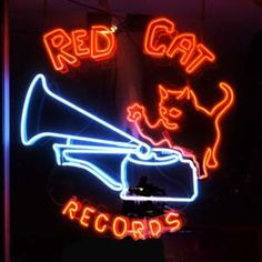 Red Cat Records 4307 Main Street New and used cds and vinyl records Old Neon Signs, Vintage Neon Signs, Neon Light Signs, Neon Words, Cat Signs, Neon Glow, Red Cat, Light Of My Life, Advertising Signs
