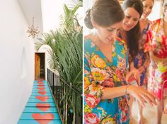 I love the robes and I want to take photos at that hotel with the bright paintings