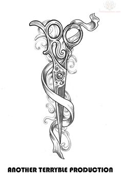 ribbon-and-scissor-tattoo-design.jpg 735×1,087 pixels