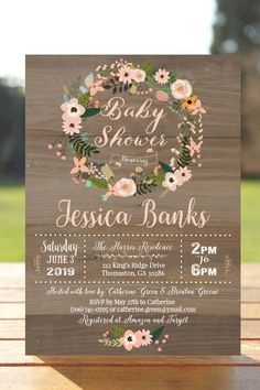 Best shabby chic baby shower ideas for girls decoration signs 32 ideas Baby Girl Shower Themes, Baby Shower Invites For Girl, Baby Shower Cakes, Baby Boy Shower, Baby Shower Floral, Baby Shower Flowers, Shabby Chic Baby Shower, Bridal Shower, Tarjetas Baby Shower Niña