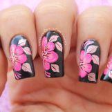 Decoración de uñas flores 1-1