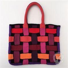 Foto Tunisian Crochet, Knit Crochet, Unique Crochet, Handmade Felt, New Bag, Crochet Clothes, Celtic, Purses And Bags, Knitting Patterns