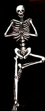 Even skeletons do yoga
